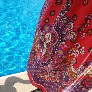 Flying Tomato Dresses - Flying tomato red paisley strapless sundress small